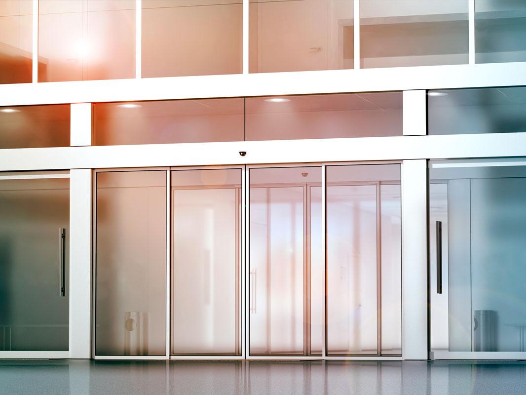 Puertas automáticas para centros comerciales